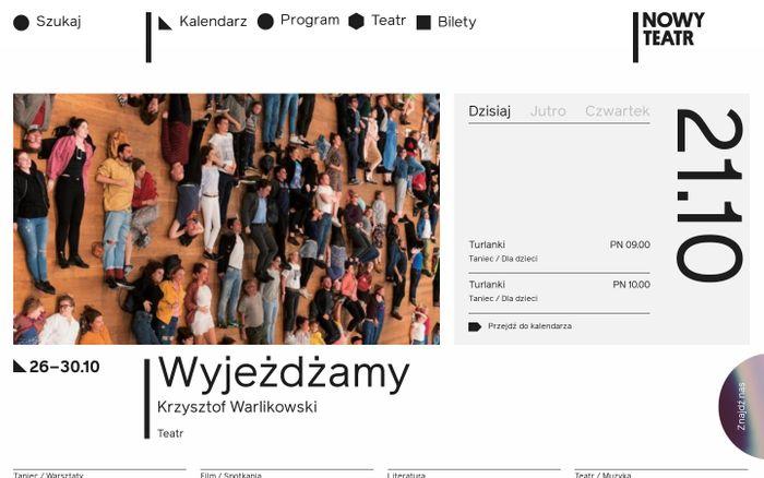 Screenshot of Nowy Teatr website