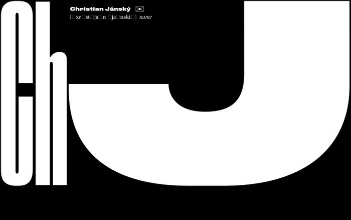 Screenshot of Christian Jánský website
