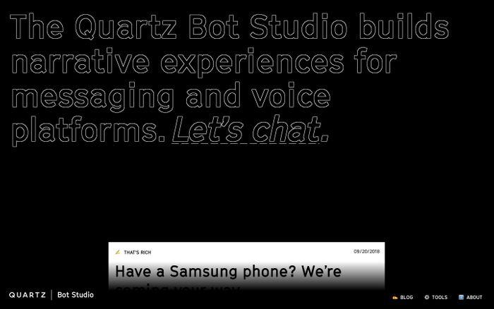 Screenshot of Quartz Bot Studio