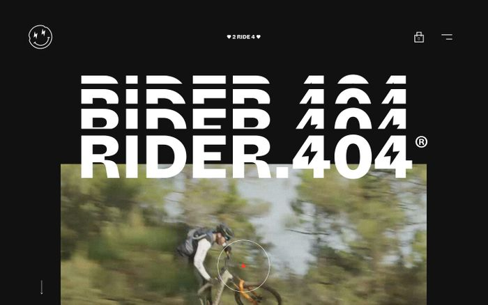 Screenshot of Rider 404
