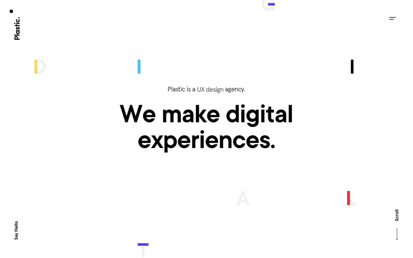 Screenshot of Plastic website