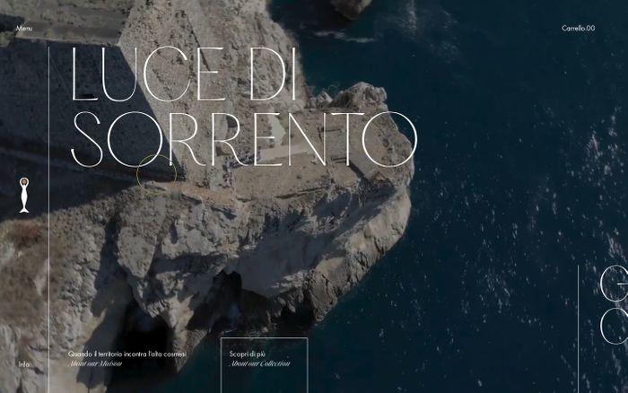 Screenshot of Luce di Sorrento | Homepage