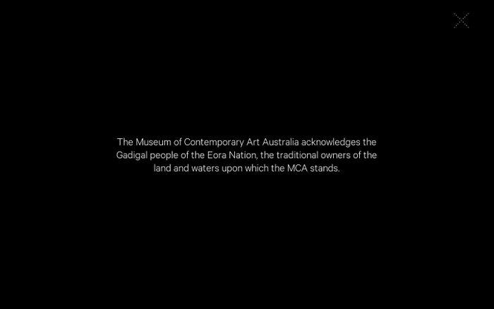 Screenshot of Australia's home for contemporary art | MCA Australia