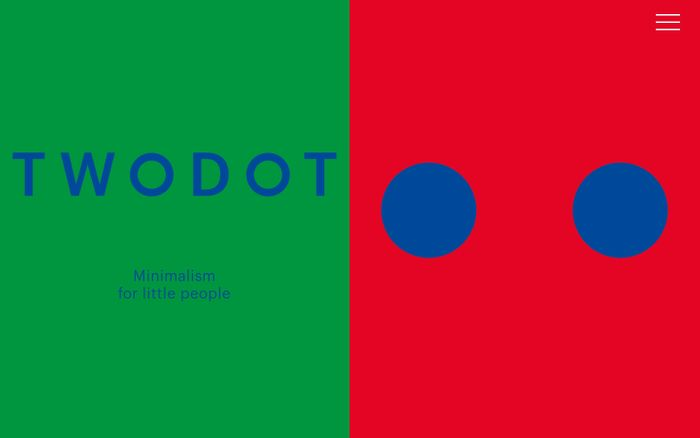 Screenshot of TwoDot — Minimal art for little people.