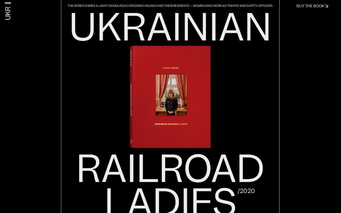 Screenshot of Ukrainian Railroad Ladies website