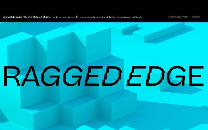 Screenshot of Branding Agency London - Ragged Edge