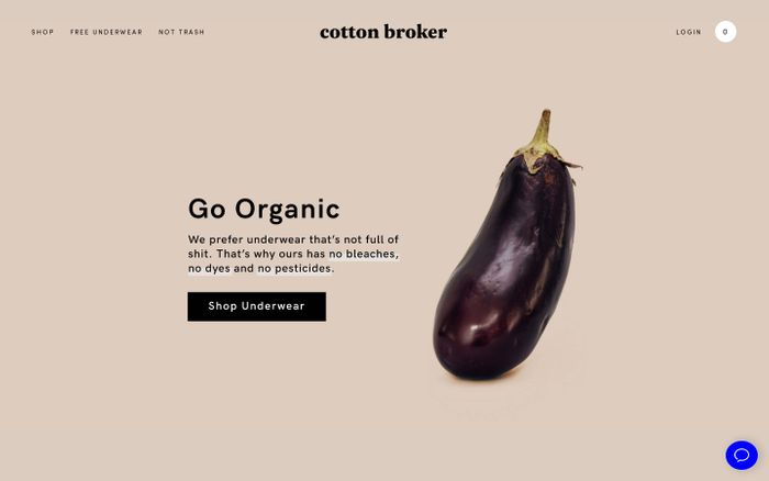 Screenshot of Cotton Broker website