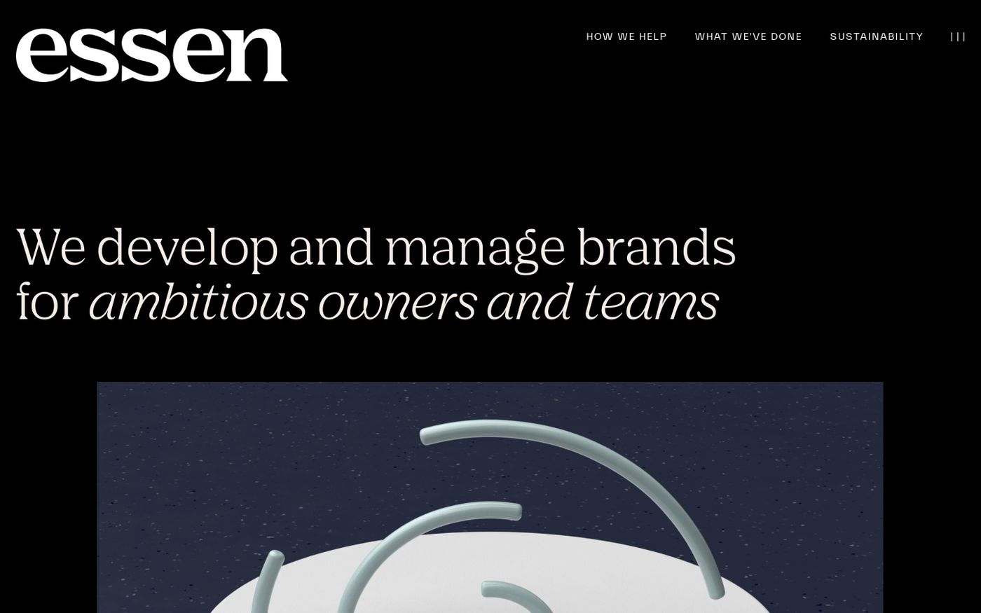 Screenshot of Essen website