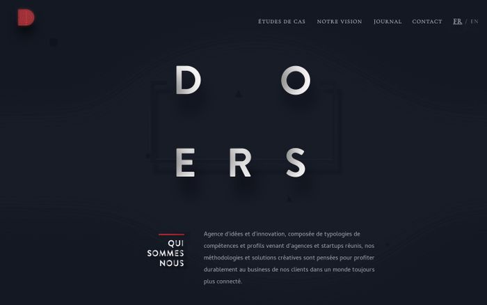 Screenshot of Agence digitale et créative à Paris | Doers