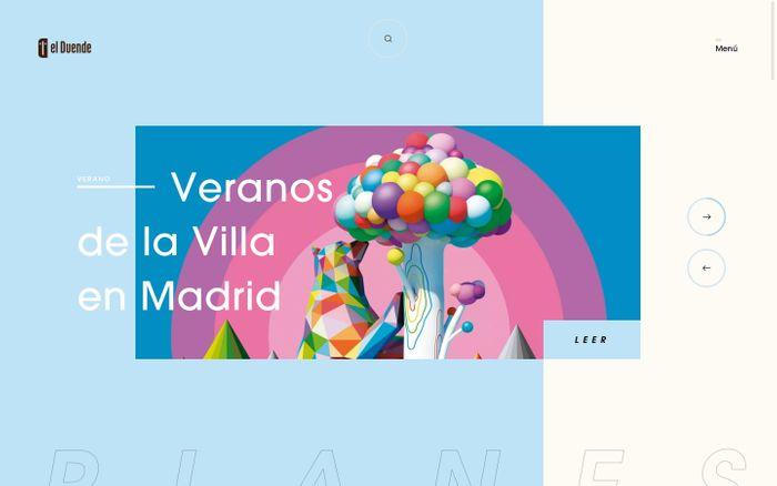Screenshot of  Revista El Duende