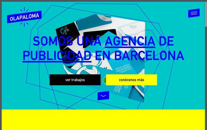 Screenshot of Olapaloma - Agencia de publicidad en Barcelona
