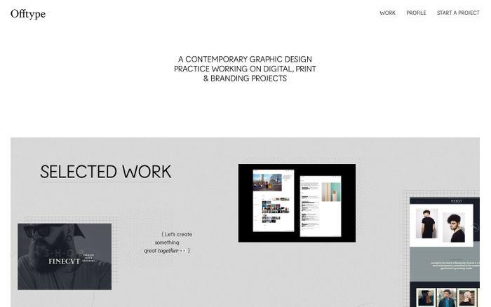 Screenshot of Offtype — Studio for digital design & development