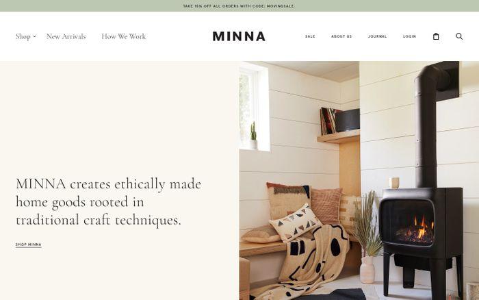 Screenshot of MINNA | MINNA