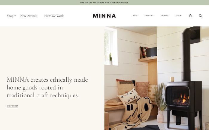 Screenshot of MINNA | MINNA website