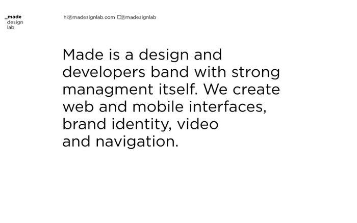 Screenshot of madesignlab