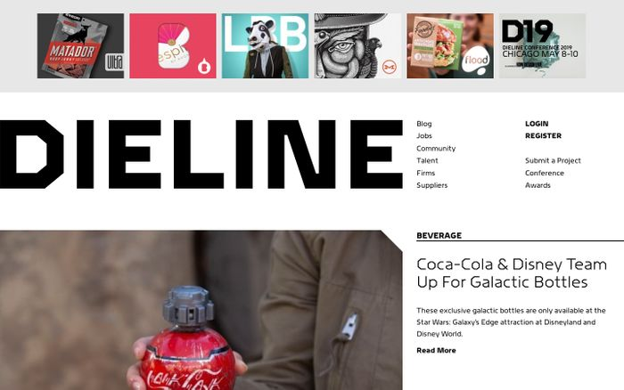 Screenshot of Dieline
