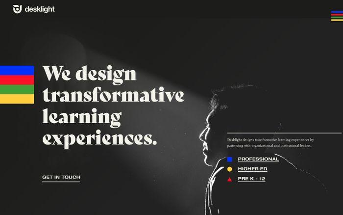 Screenshot of Desklight website