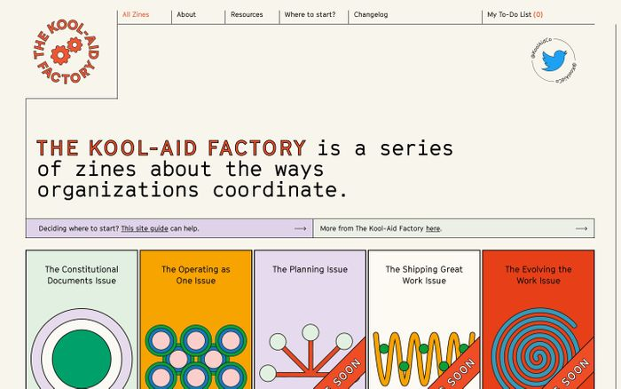 Screenshot of The Kool-Aid Factory website