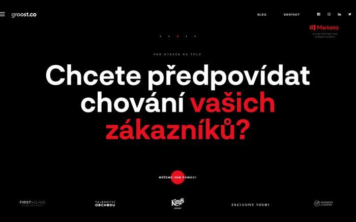 Screenshot of Online marketingová agentura groost.co