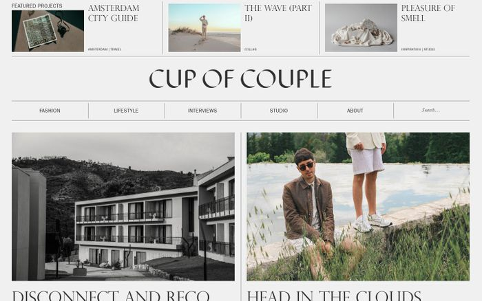 Screenshot of Cup of Couple website