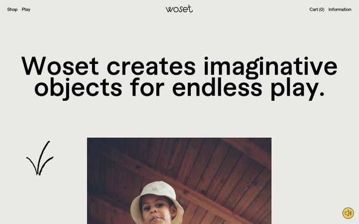 Screenshot of Woset website