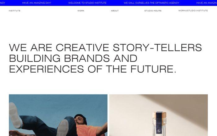 Screenshot of Studio Institute website