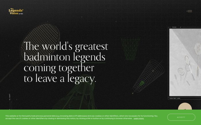 Screenshot of The Legends' Vision for Badminton | by Yonex