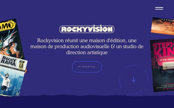 Screenshot of Rockyvision website
