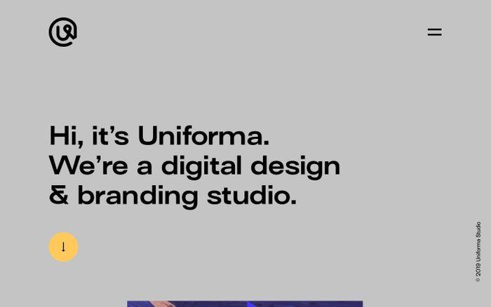 Screenshot of Uniforma Studio website