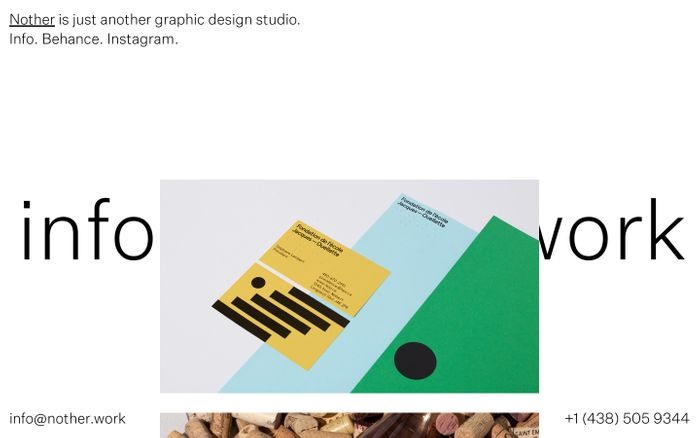 Screenshot of Nother Studio website