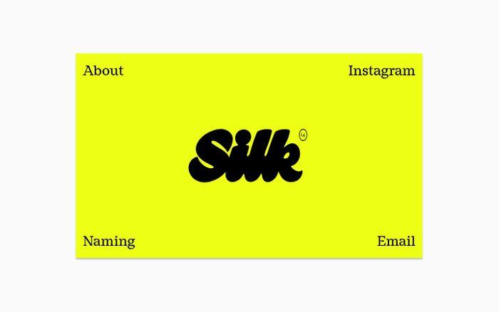 Screenshot of Silk Studio website