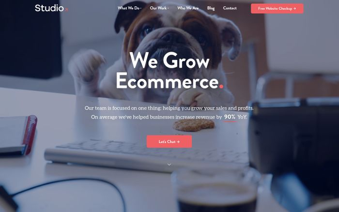 Screenshot of Ecommerce Online Digital Marketing & Design Services Agency