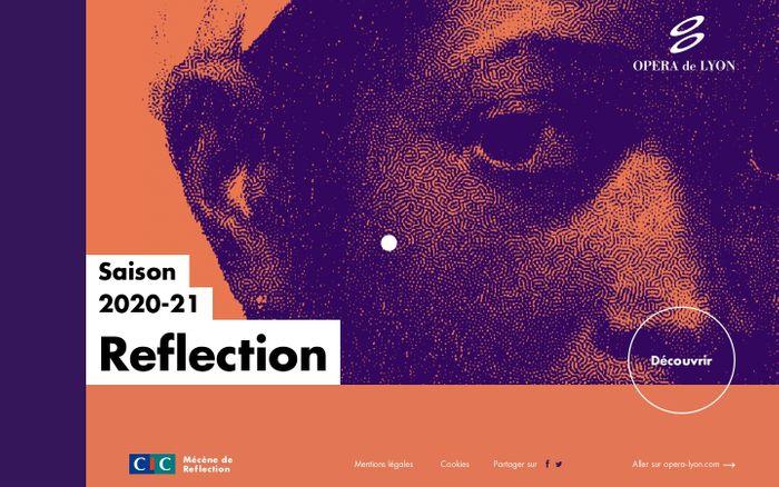 Screenshot of Reflection - Une expérience de l'Opéra de Lyon website