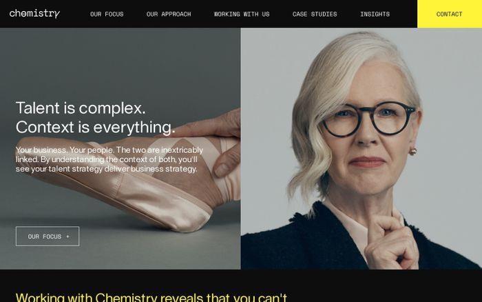 Screenshot of Chemistry website