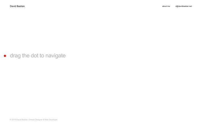 Screenshot of David Bastian. Chilean Designer & Web Developer.