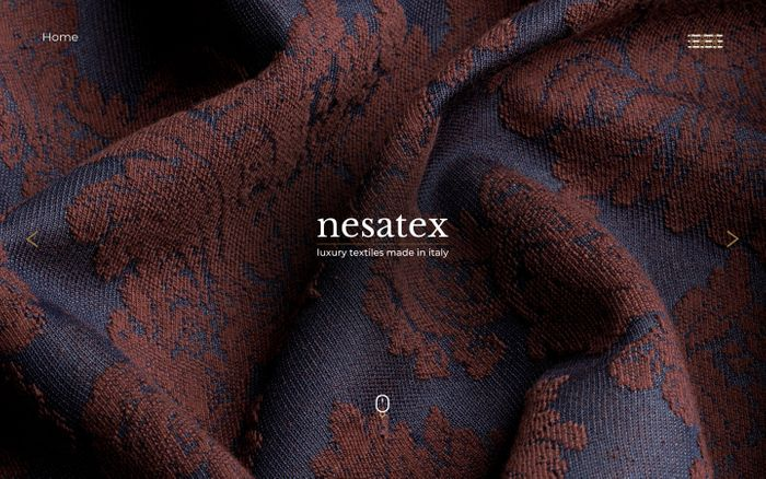 Screenshot of Nesatex | Luxury textiles made in italy