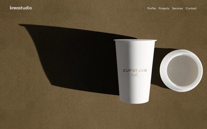 Screenshot of Kreastudio | Graphisme, Communication, Identité, Logo Design, Montreux
