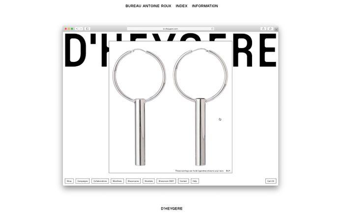 Screenshot of Bureau Antoine Roux website