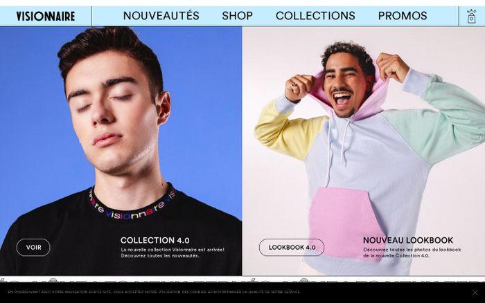 Screenshot of Visionnaire website