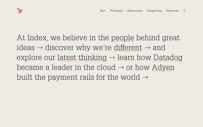 Screenshot of Index Ventures | Index Ventures
