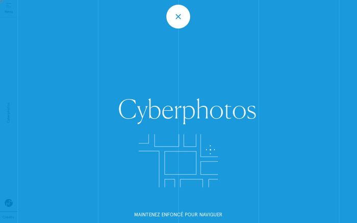 Screenshot of Cyberphotos website