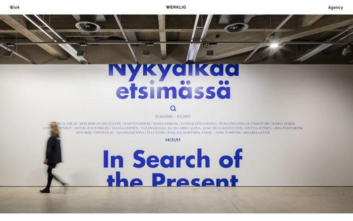 Screenshot of Werklig - A brand design agency from Helsinki