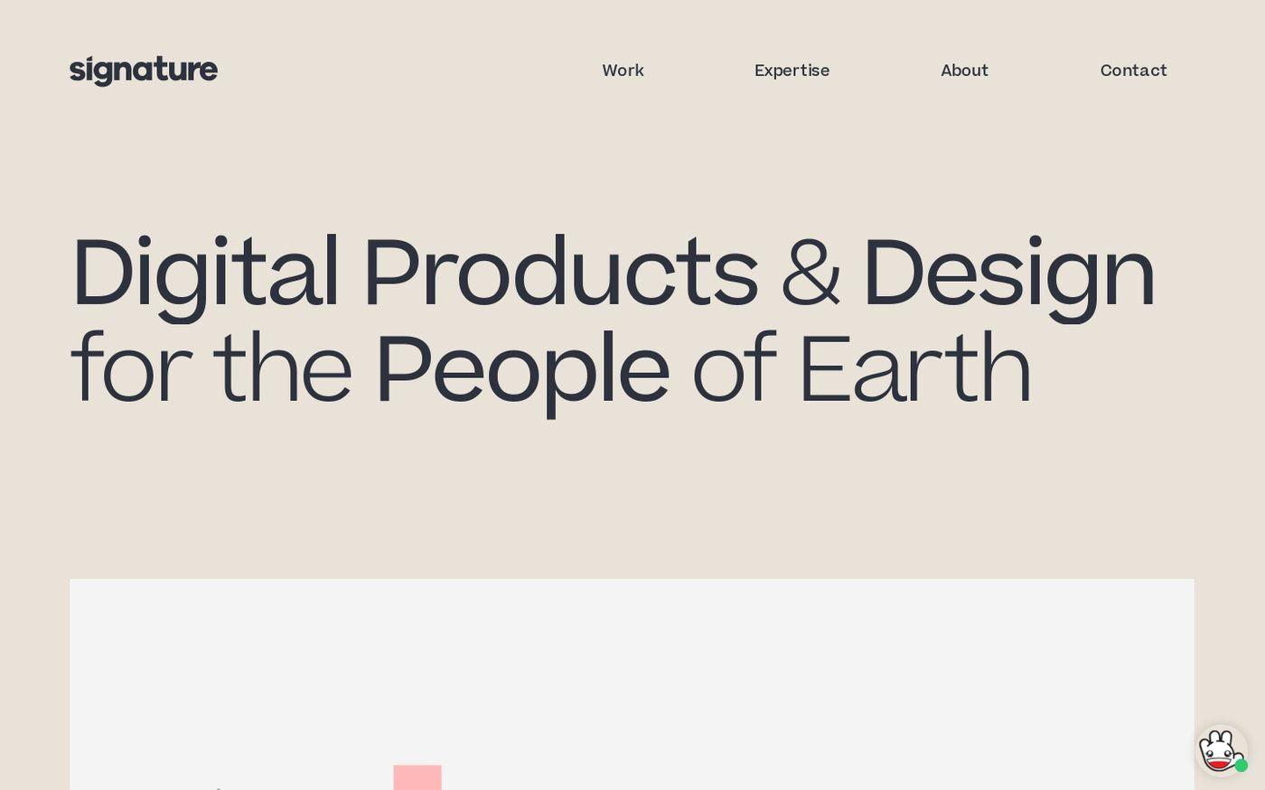 Screenshot of Signature Creative website