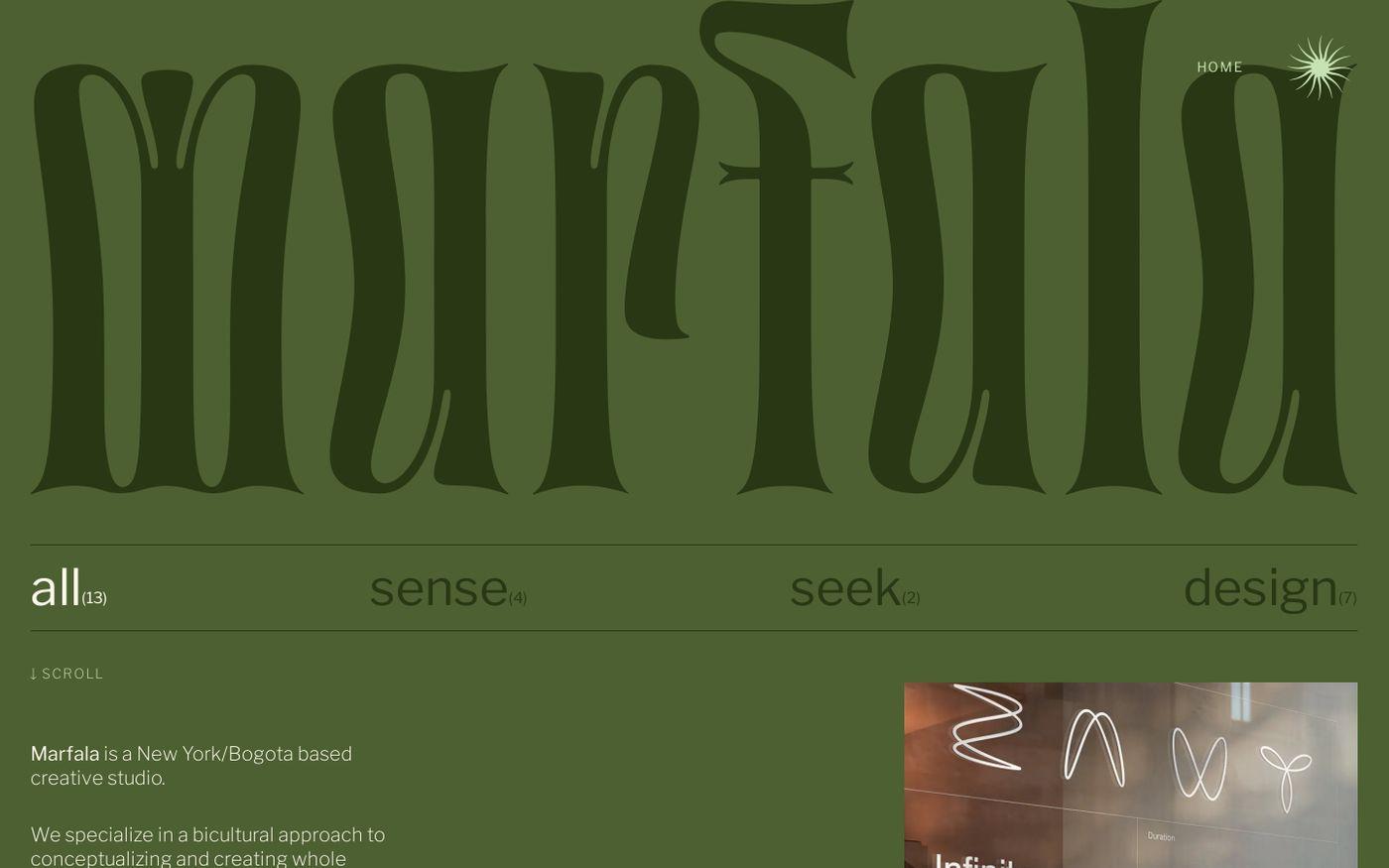 Screenshot of Marfala website