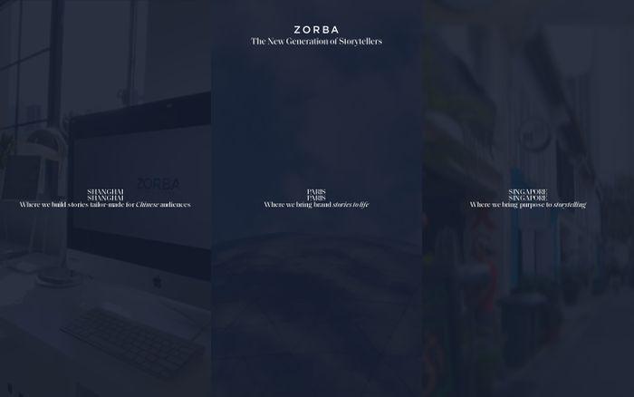 Screenshot of Zorba Group website
