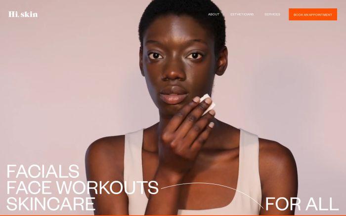Screenshot of Hi, skin website