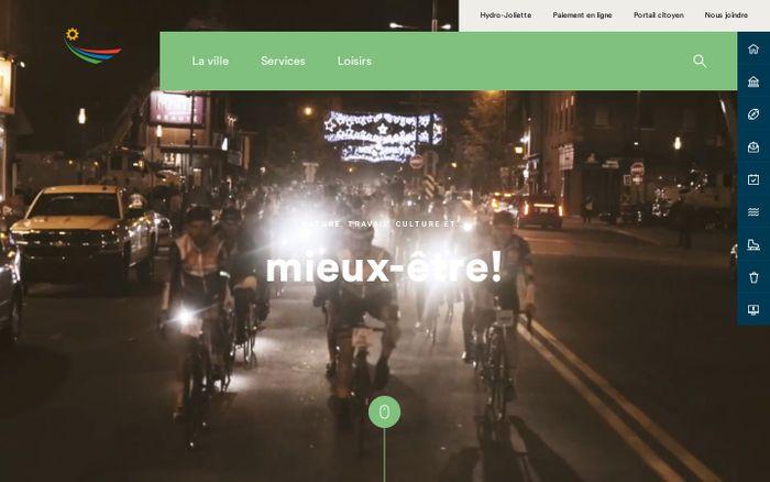 Screenshot of Joliette, nature travail, culture et mieux-être