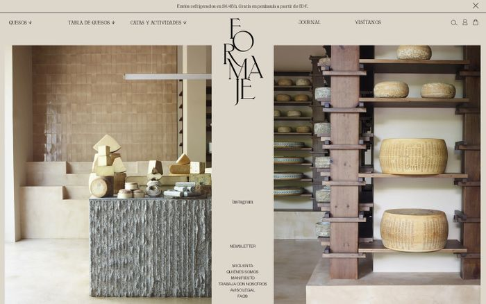 Screenshot of Formaje website