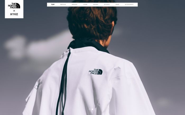 Screenshot of THE NORTH FACE × HYKE