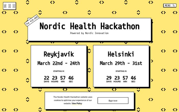 Screenshot of Nordic Health Hackathon